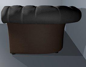 Art Nouveau white leather baxter Sofa 3D