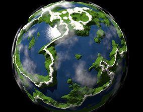 3D Planet Miniature life