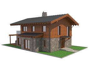 Chalet House 4 3D