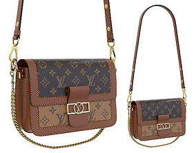 3D model Louis Vuitton Dauphine Bag Brown Monorgam