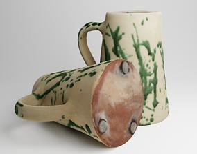 PBR photogrammetry Vintage Ceramic Water Jug 3d scan
