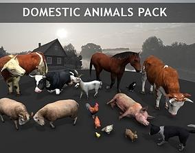 3D model Domestic Animals pack