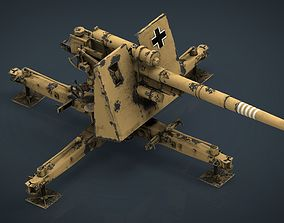 3D model GERMAN FLAK 36 88MM
