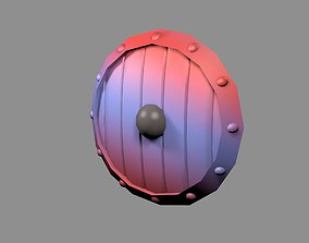 3D model game-ready Shield medieval