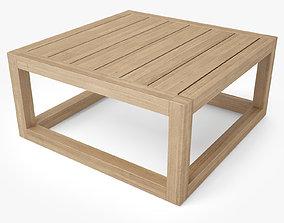 Restoration Hardware Aviara Teak Side Table 3D