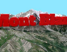Mount Mont Blanc 3D asset game-ready
