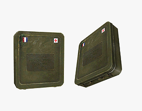 3D asset game-ready First Aid Kit