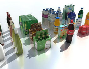 Drink products with LOD 3D asset