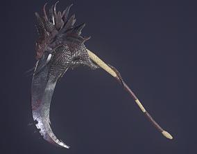 3D asset Dragon Scythe weapon