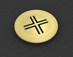 3D printable model Cross Medallion art