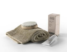 Rexa Spa Set Towel Brush and Cream 3D