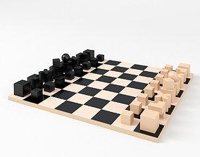 3D model Bauhaus Chess Game Board Schachspiel