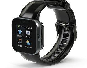 Sony Smart Watch Black 3D model