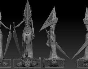 Pyramid Head Girl Silent Hill Fan Art 3D print model