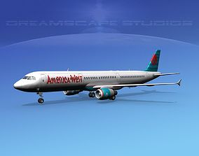 Airbus A321 America West 3D