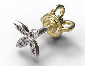 3D printable model Earrings Ear Stud gold
