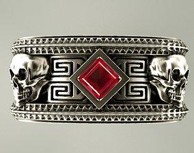 Skull ring rings 3D printable model