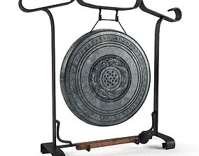 3D Gong Black And Wood