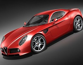 3D Alfa Romeo 8C Competizione HighPoly