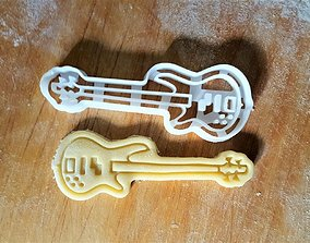 3D printable model Bass guitar cookie cutter