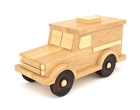 3D model Wooden toy car 24