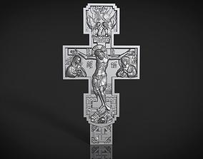 3D print model Orthodox cross bas-relief