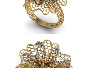 3D print model jewellery rings GOLD RING