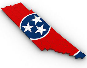 Tennessee Political Map 3D