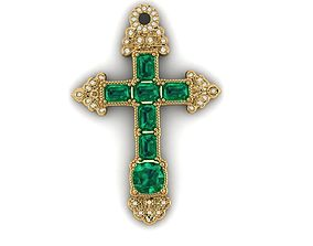 3D printable model An Emerald Cross from the Atocha