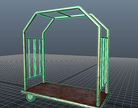 3D asset Lobby Baggage Cart