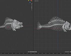 fish bone url khajo 3D model