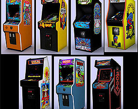 3D model Classic arcade games - pack 2