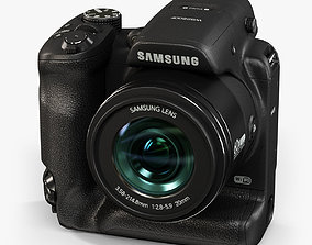 Samsung WB2200F bridge digital camera 3D asset