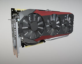 3D asset Asus Strix GTX 980 Ti Low Poly
