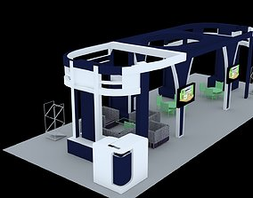 advertising Booth Exhibition Stand 3D Model