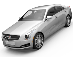 Cadillac ATS sedan 3D model animated