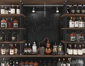 Big Alcohol Bar 2 3D model