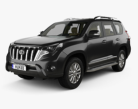Toyota Land Cruiser Prado VXR 5-door with HQ 3D model 1