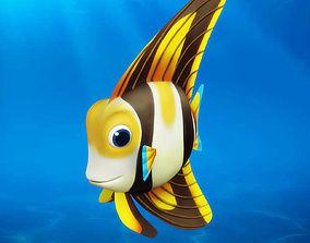 3D model Cartoon fish07 Rigged Animated