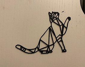3D gato geometrico