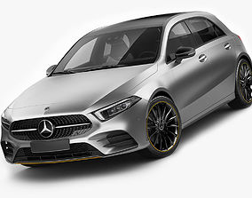 Mercedes-Benz A-class 2019 AMG line 3D model