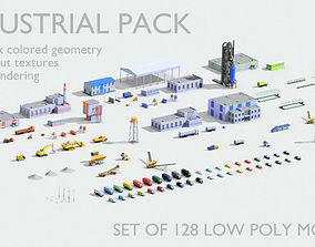 Industrial models pack 3D asset game-ready