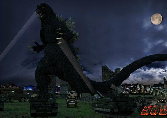 Revenge Of Godzilla Homage to 1954 Film