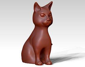 sitting cat statue 3D printable model