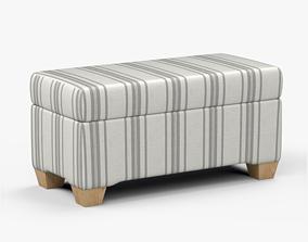 3D model Pembroke storage bench stripe neutral