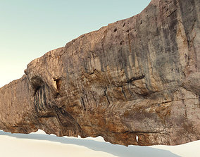 Cliff - Giant 500 meters prepared limestone cliff 3d