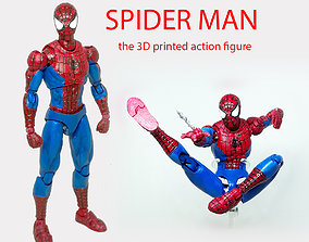3D printable model SPIDER MAN articulated action figure