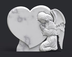 Praying Angel Tombstone 3D print model