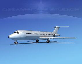 Douglas DC-9-30 Bare Metal 3D