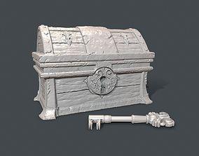 Sunken Treasure Chest with Key 3D print model